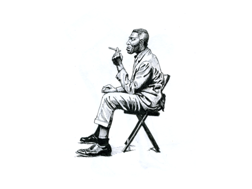 Howlin' Wolf ink illustration