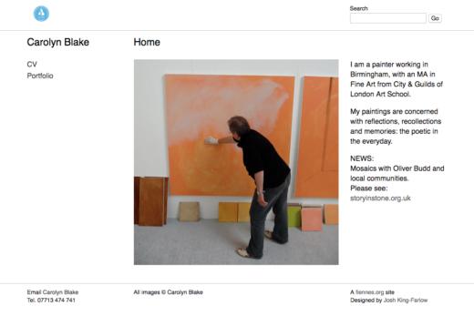 Carolyn Blake web site home page
