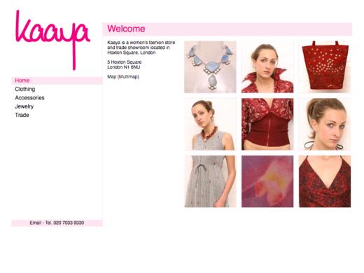 Kaaya web site gallery page