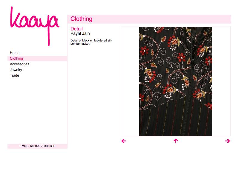 Kaaya web site image page