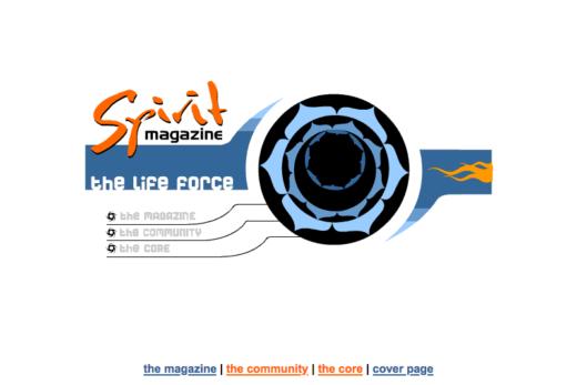 Spirit Magazine animated portal page