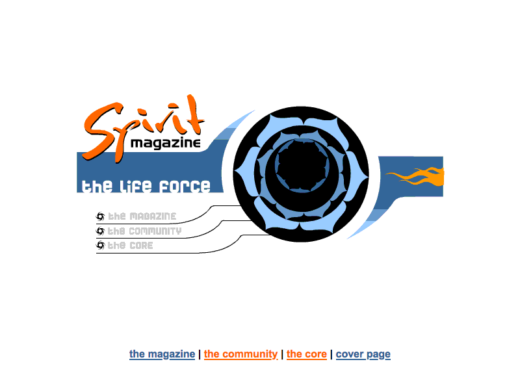 Spirit Magazine animated portal page