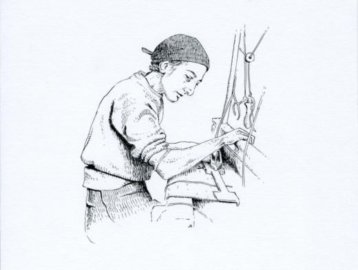Anni Albers ink illustration