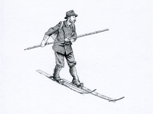 Matthias Zdarsky ink illustration