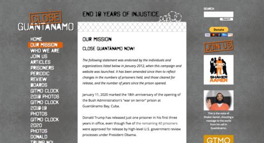 Close Guantanamo web site