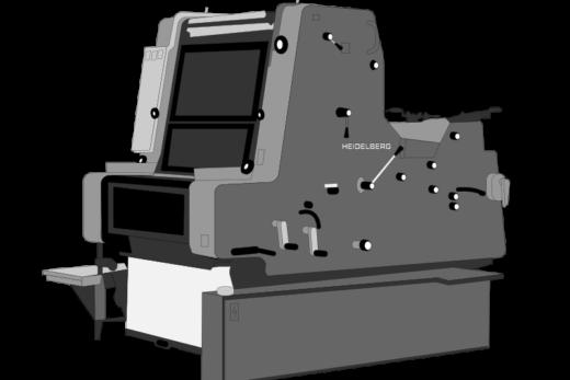 Heidelberg printer illustration