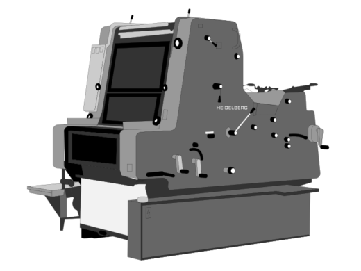 Heidelberg printer illustration