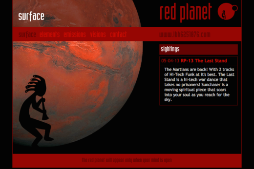 Red Planet web site home page
