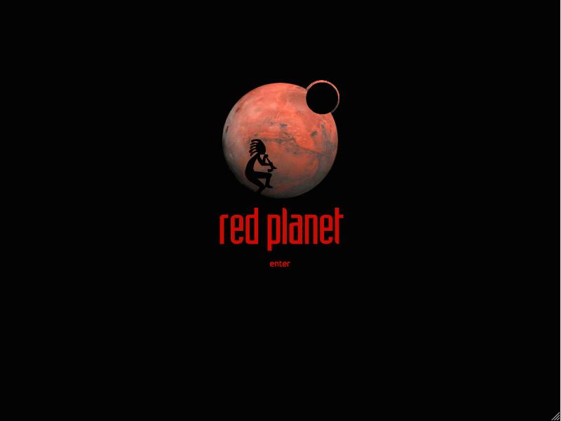 Red Planet web site splash page